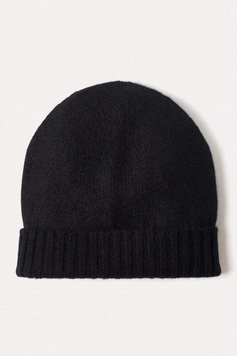 Bonnet noir cachemire