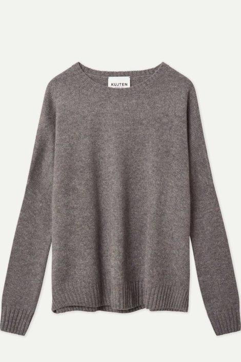 pull gris 100% cachemire