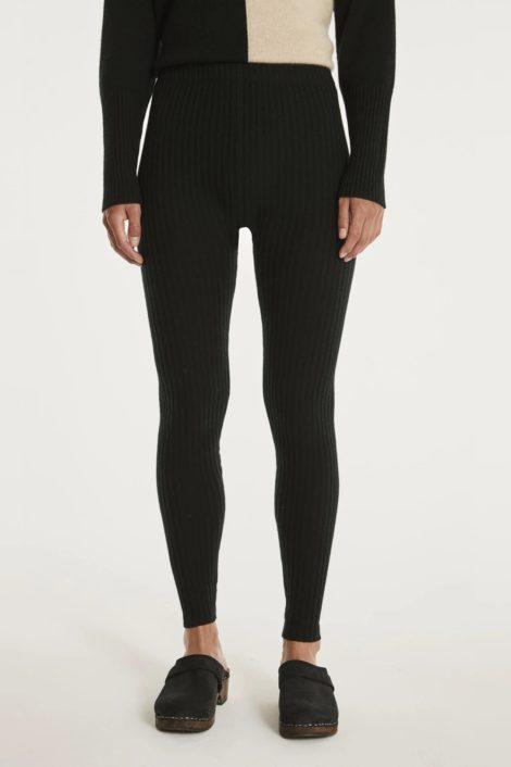 femme legging noir cachemire