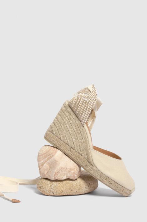 espadrille ivoire pour femme