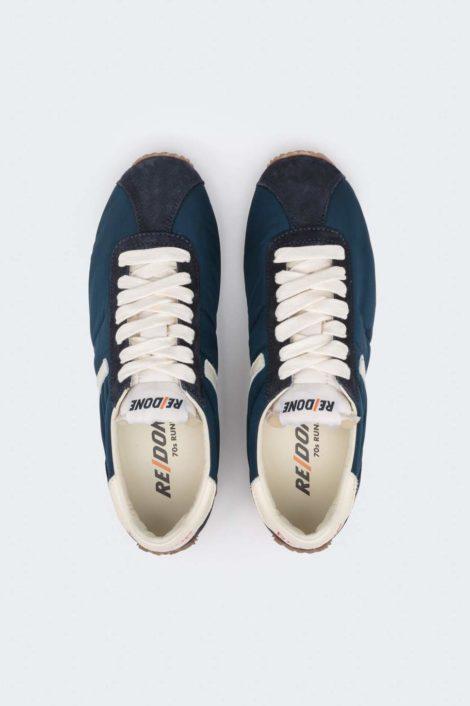 sneakers redone verte vue de haut