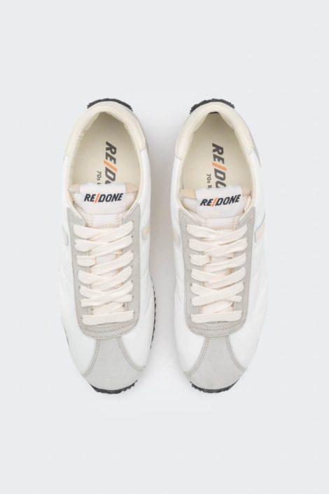 sneakers redone blanc vue de haut