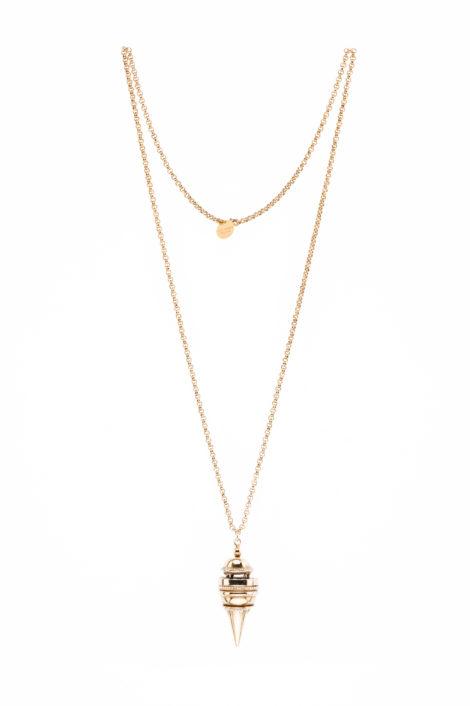 collier avec pendule or