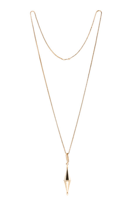 collier avec pendule or
