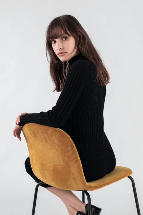 Robe noire 100% cachemire