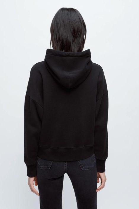 pull survêtement noir pour femme