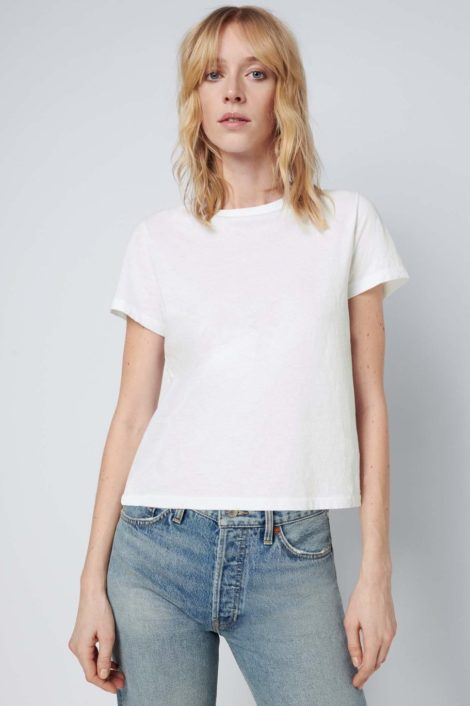 T-shirt blanc 100% coton
