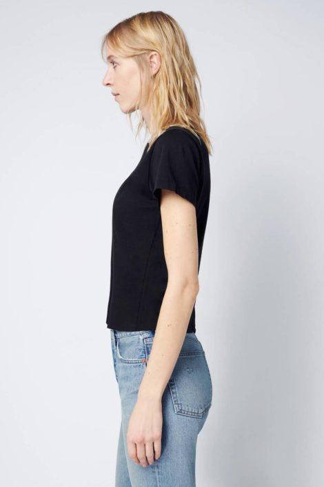 T-shirt noir 100% coton