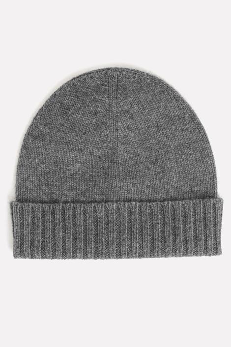 Bonnet gris 100% cachemire