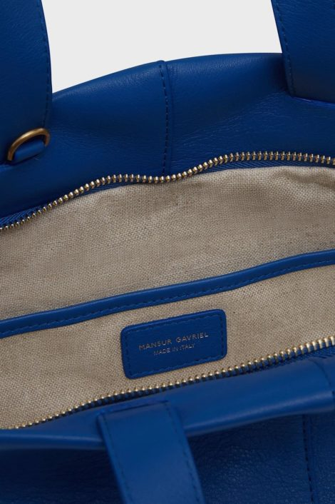 sac bleu en cuir pour femme