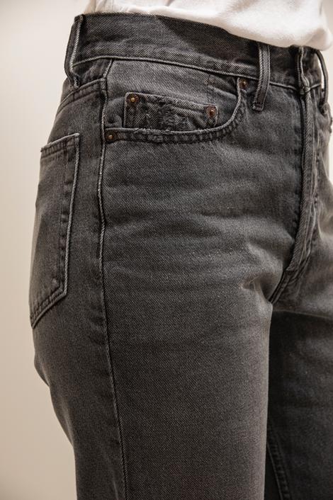 Pantalon jean loose Re/done gris détail poche avant
