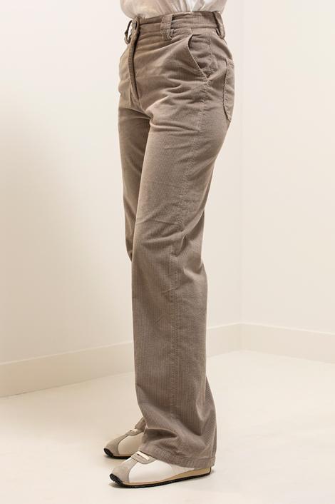 pantalon True Royal en velours milleraies gris