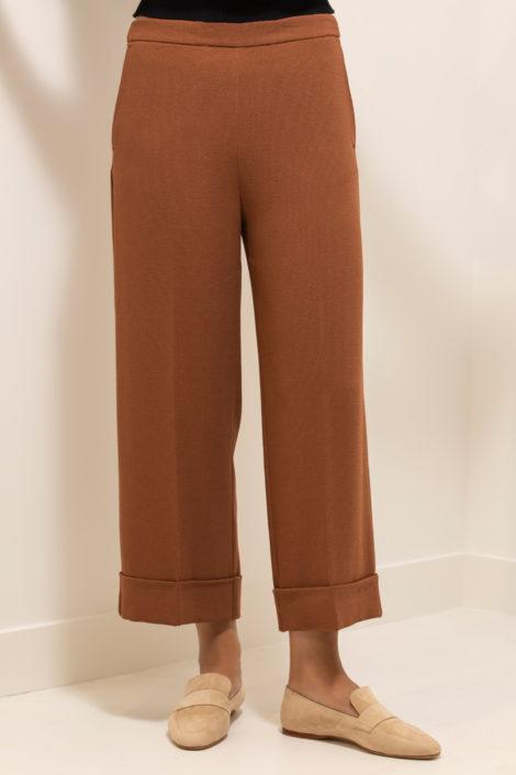 pantalon pour femme en terracotta