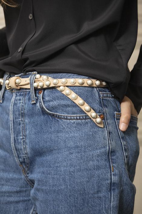 ceinture pour femme crème