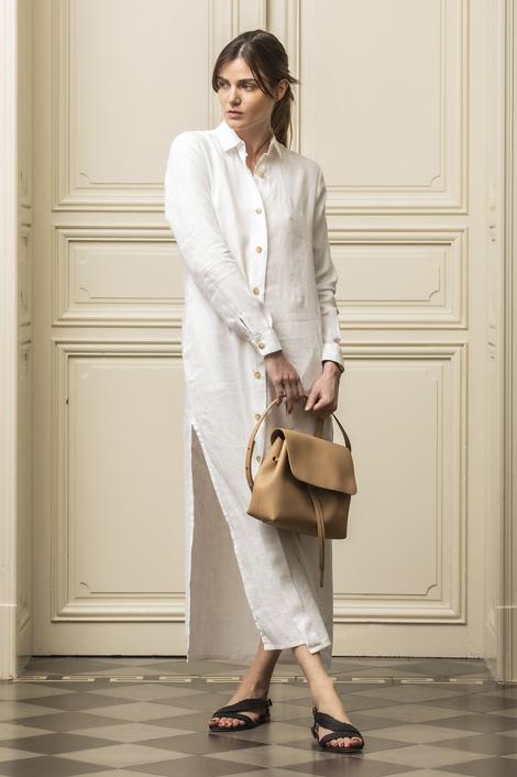 robe longue pour femme en lin
