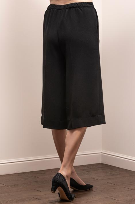 pantalon raccourci pour femme noir
