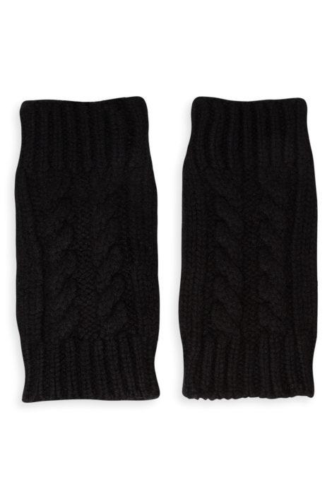 mitaine en cachemire noires pour femme