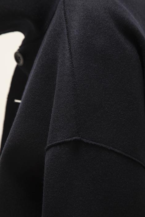 Manteau en laine oversize gris
