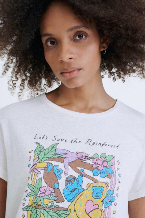 t-shirt blanc avec imprimé RE/DONE
