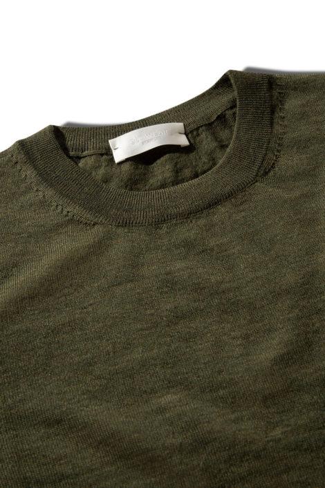 pull italien en laine vert